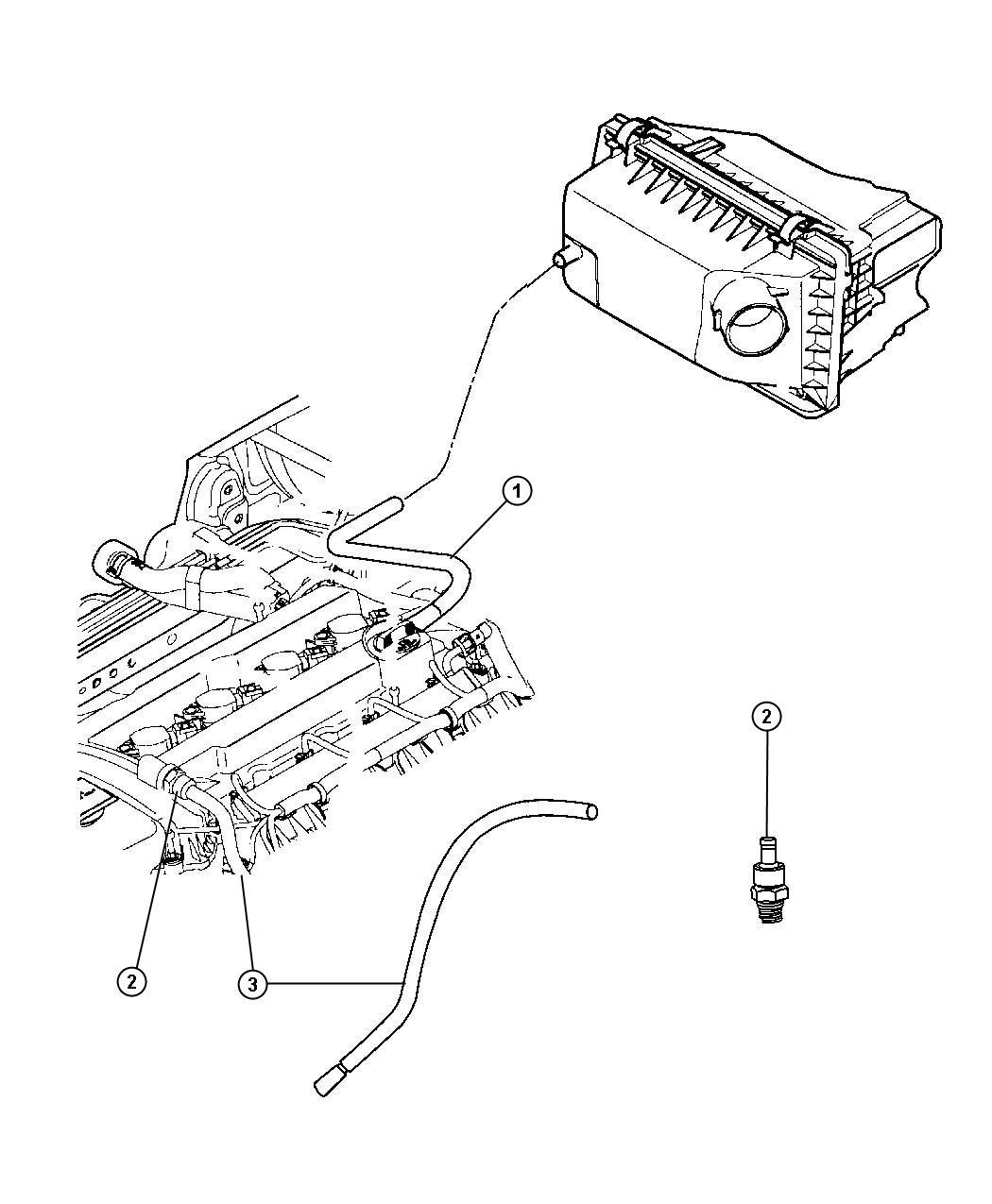 Chrysler Sebring Valve Pcv Head Cylinder Cover