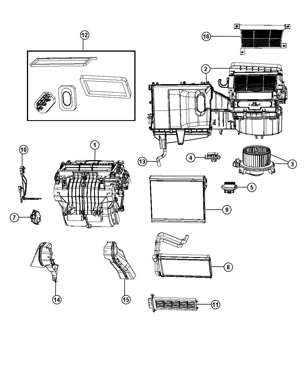 Dodge Avenger Evaporator Air Conditioning Haa