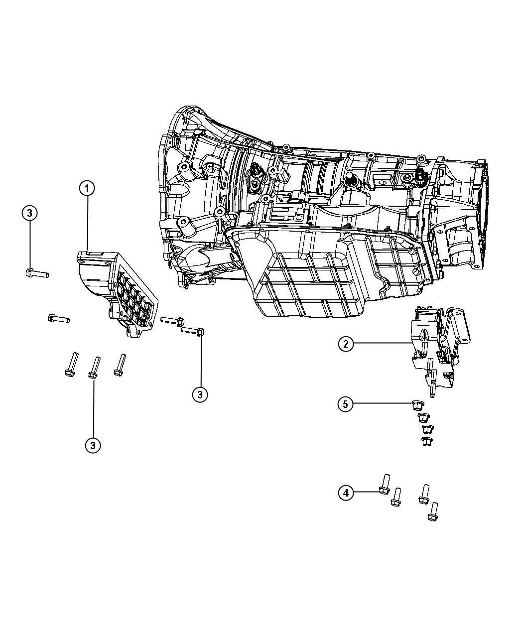Dodge Ram Bracket Transmission Mount Body 61