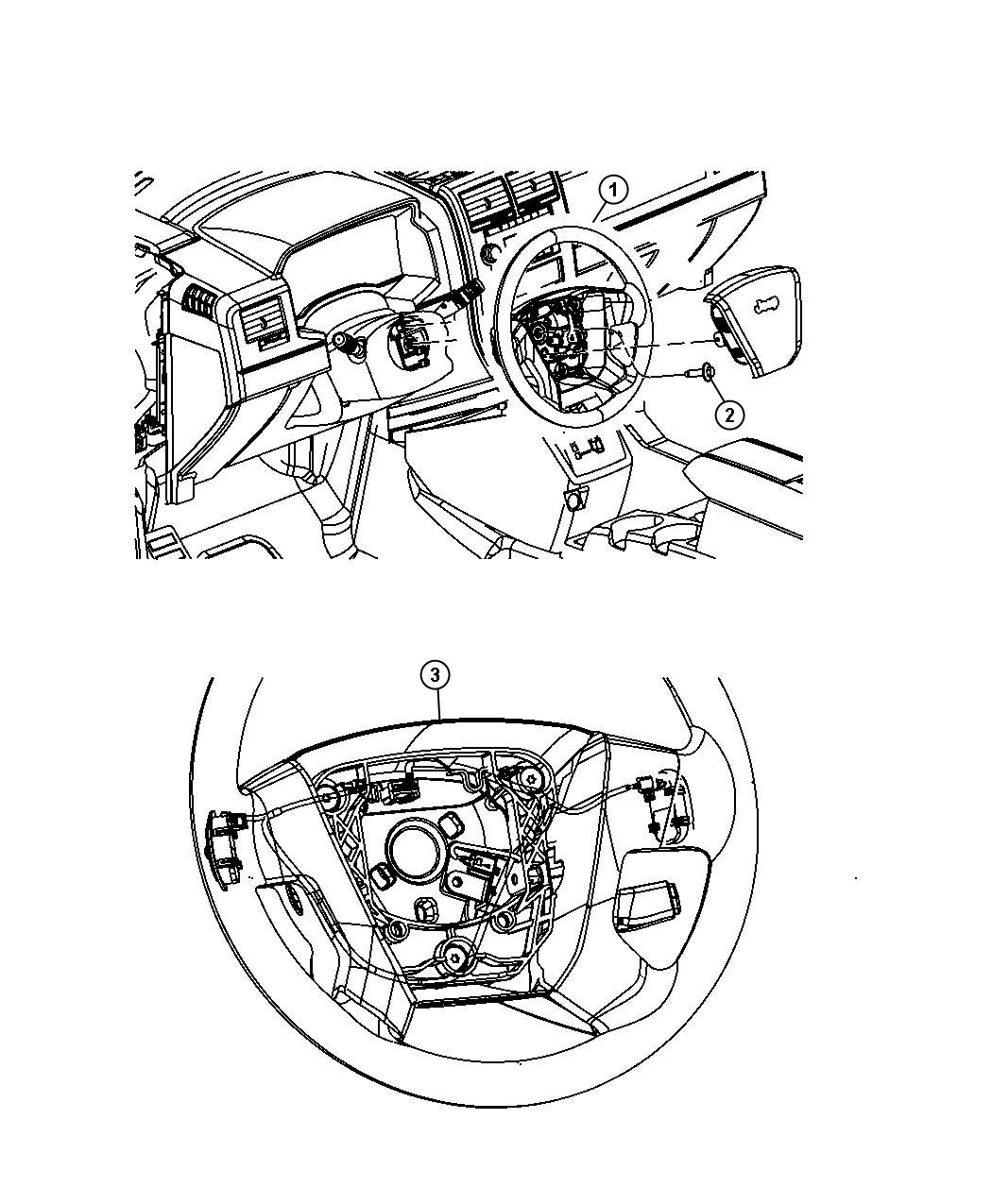 Chrysler Pt Cruiser Wheel Steering Trim All Trim Codes Color Pastel Pebble Beige