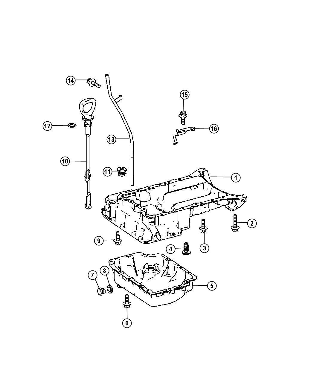 Dodge Sprinter Plug Oil Drain Engine Pansel