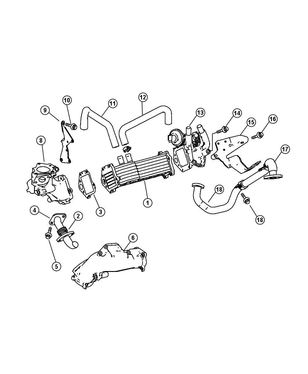 Dodge Sprinter Exhaust Cooler Egr Engine