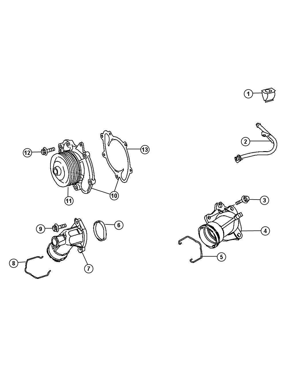 Dodge Sprinter Gasket Gasket Water Pump Water Pump