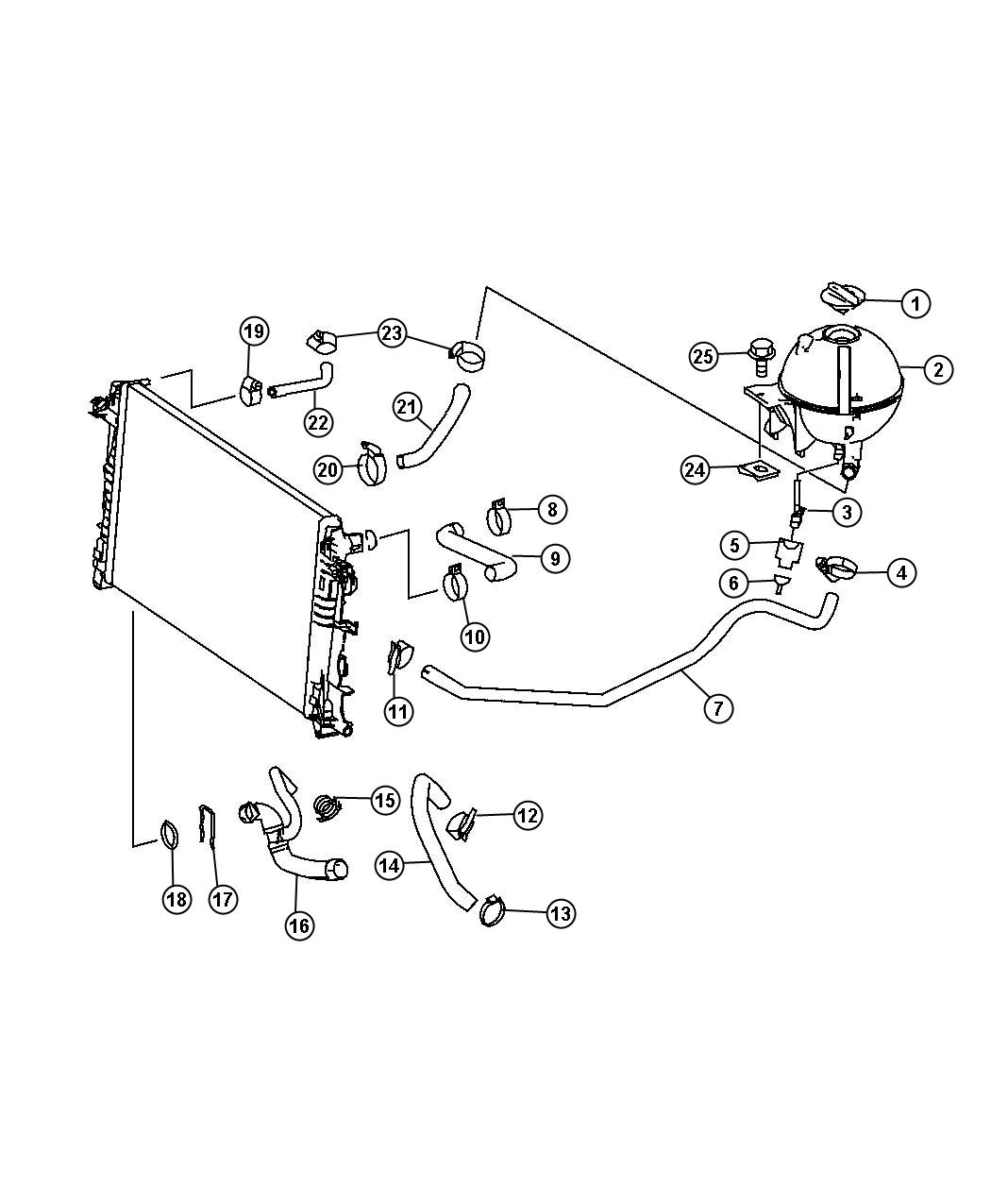 Dodge Sprinter Hose Radiator Cooling Hoses