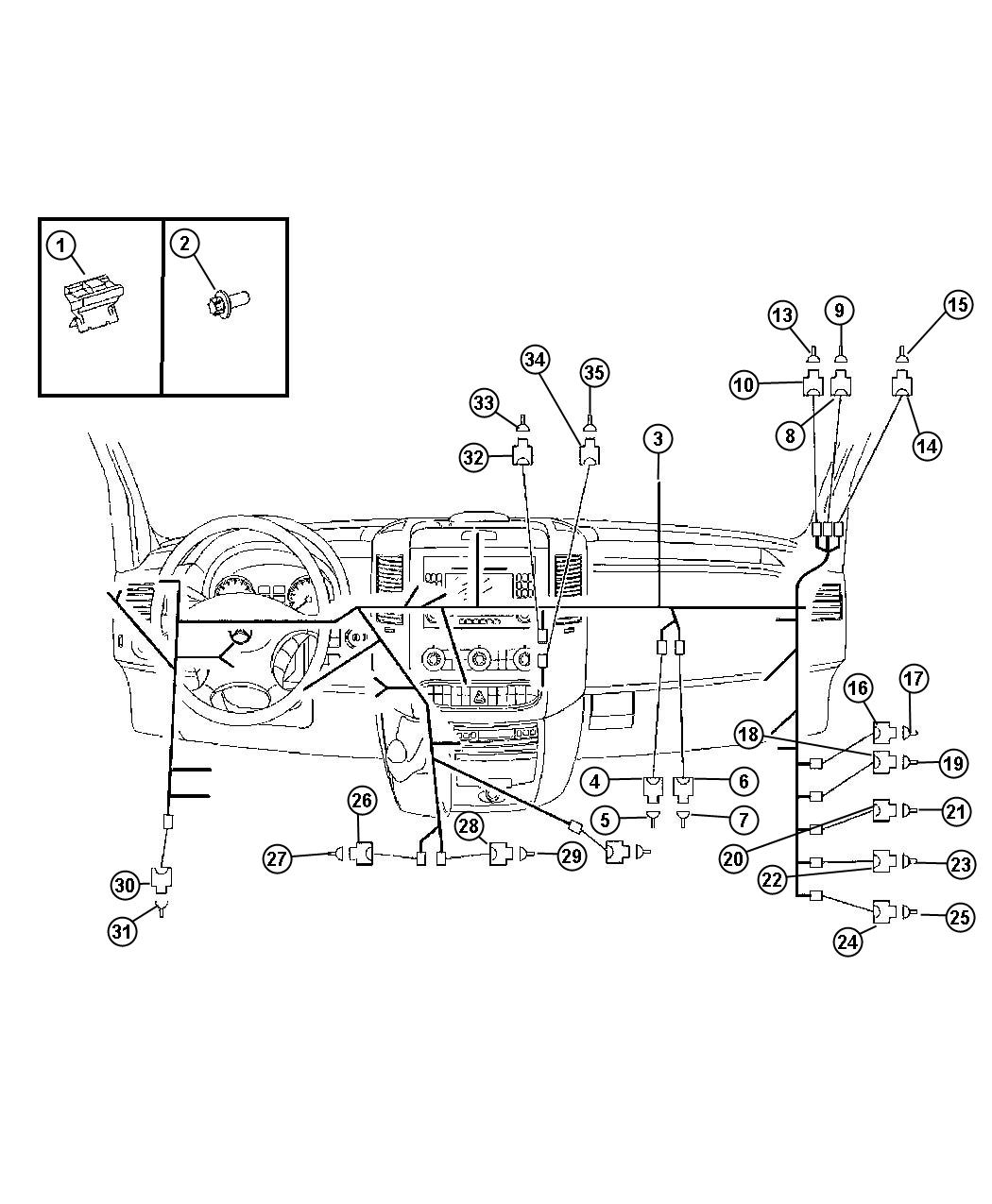 Dodge Sprinter Connector Wiring Pin Body