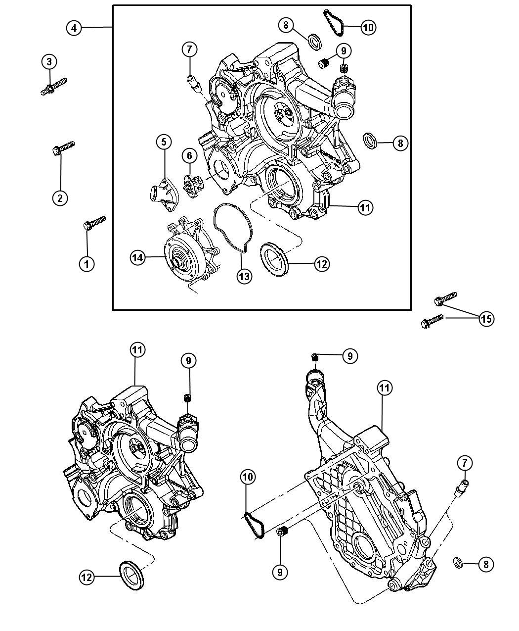 Dodge Nitro Bolt Screw Hex Flange Head M10x1 50x62 00