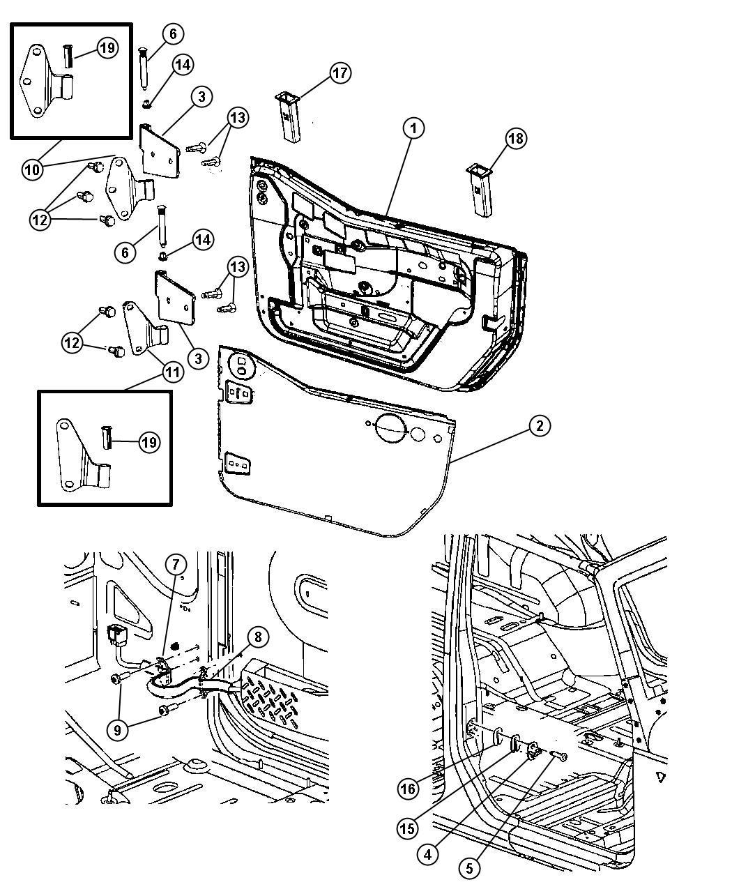 Jeep Wrangler Grommet Door Window Stabilizer Dd Trim O0 Color Dd