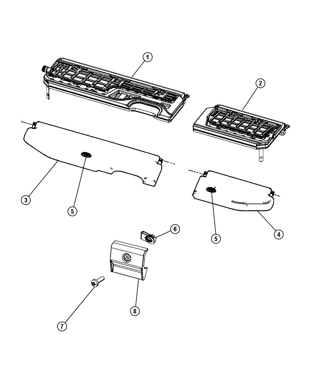 Dodge Ram Screw Pan Head M6x1x20 Rear 60 40 Split