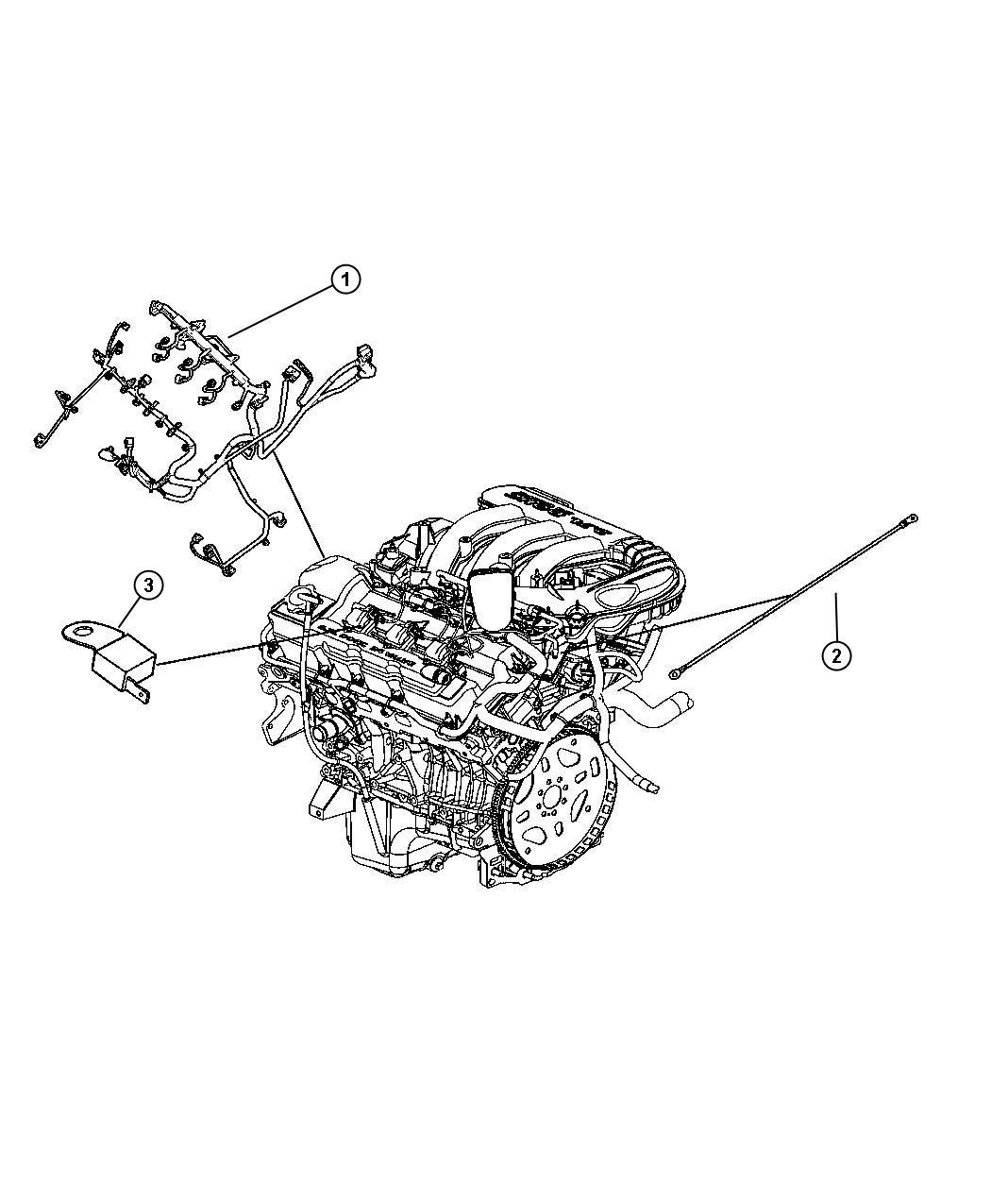 Dodge Charger Wiring Engine Powertrain Mopar Gas