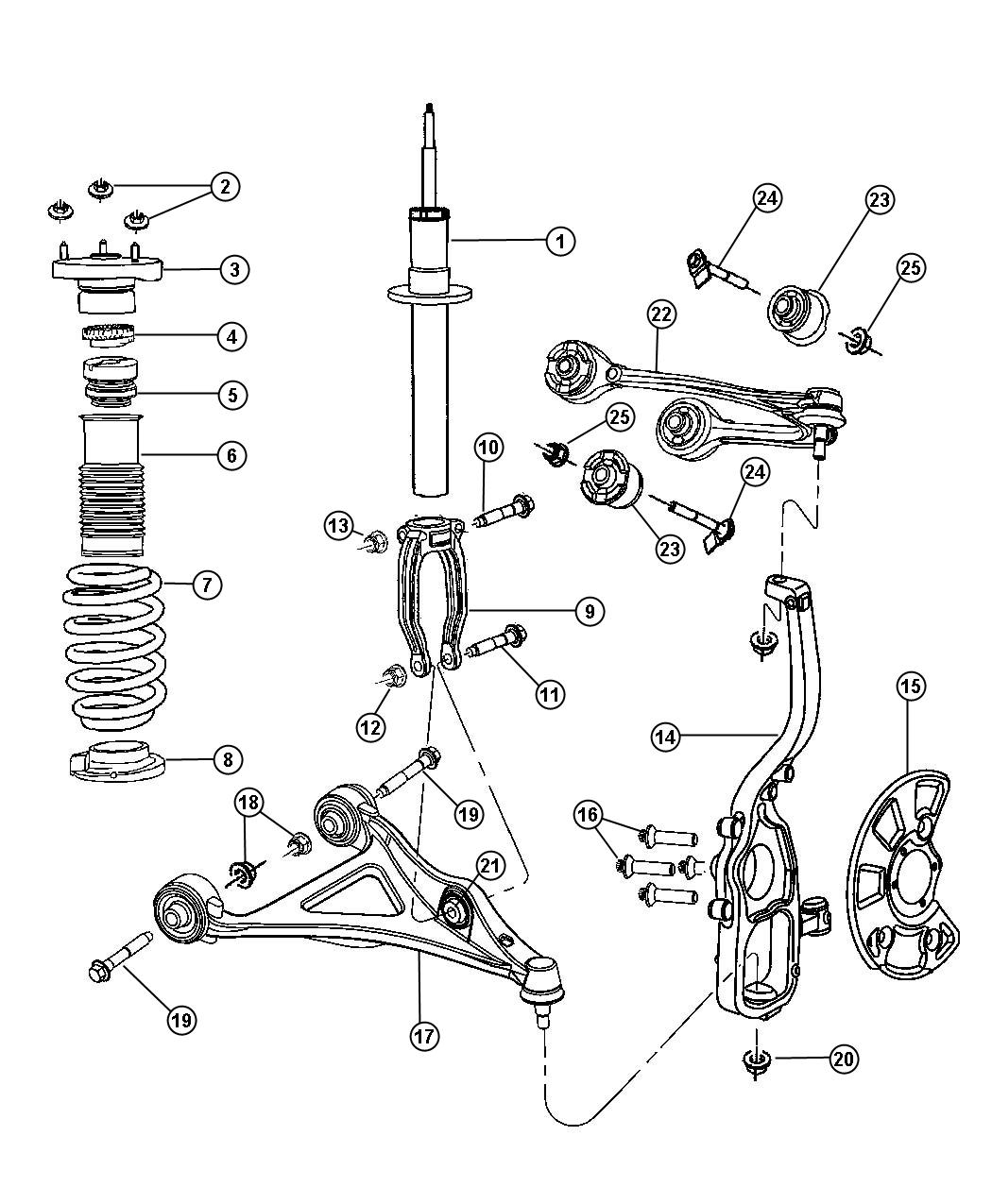 Chrysler 300 Shock Absorber Suspension Front Indep Whl