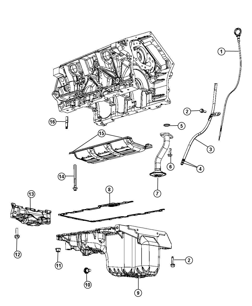 Chrysler 300 Pan Oil Includes Engine Oil Drain Plug