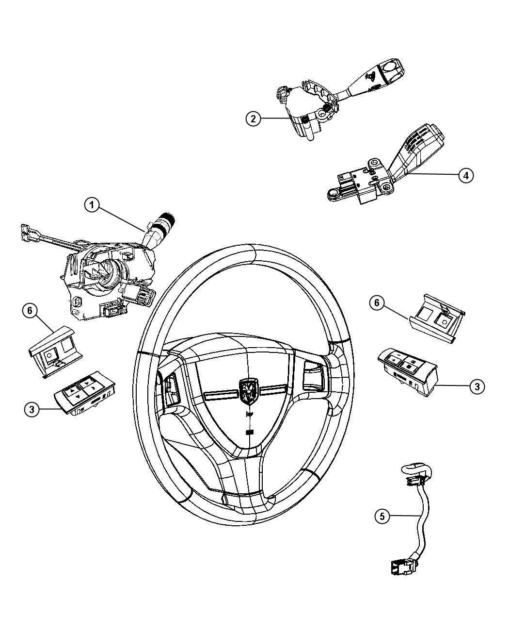 Dodge Charger Switch Multifunction Tilt Steering