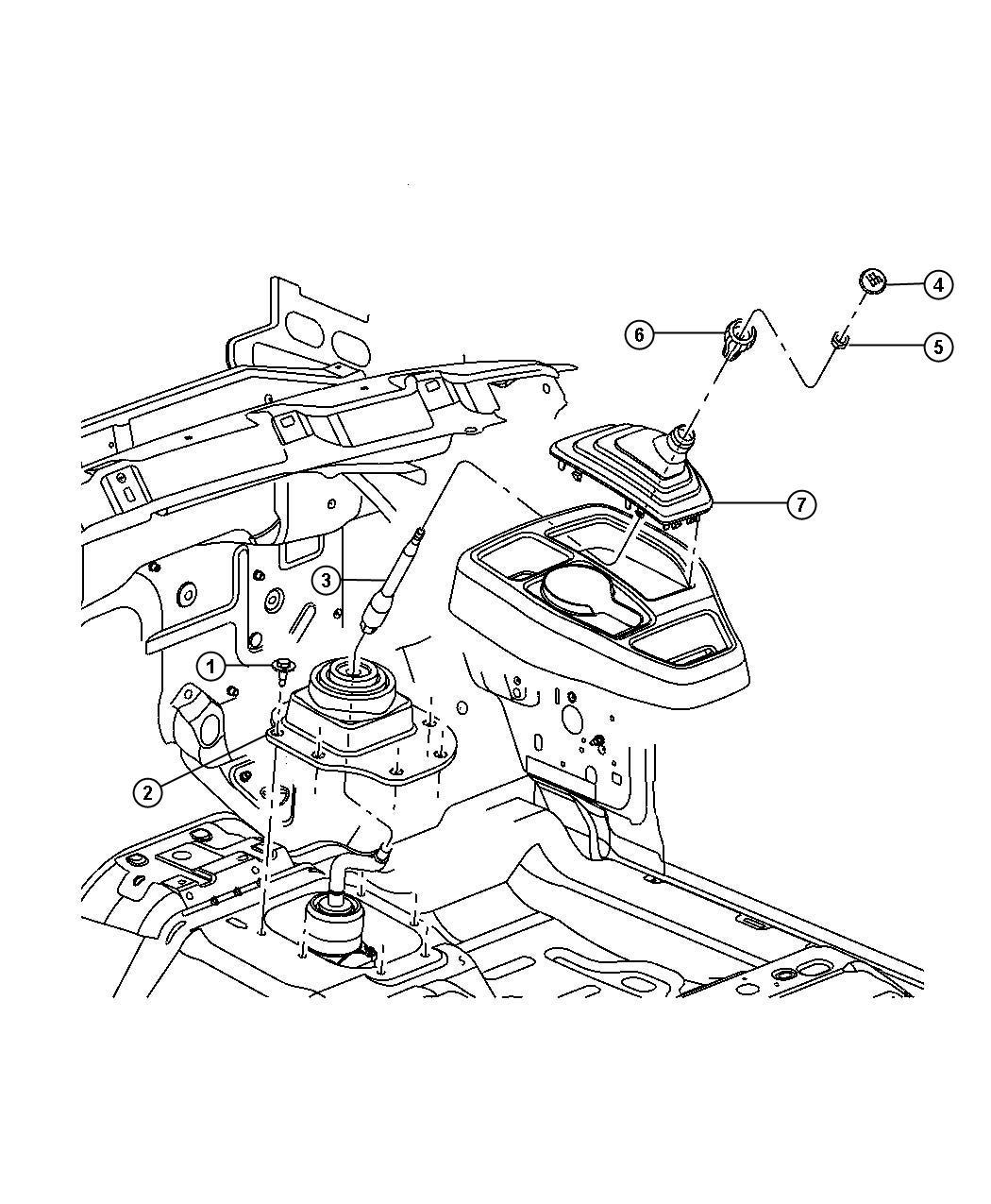 Dodge Dakota Insert Transmission Shift Knob Gearshift