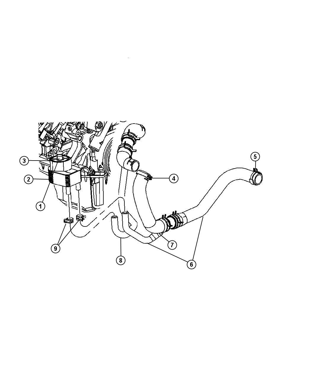 Dodge Charger Fitting Engine Oil Cooler Engine Oil