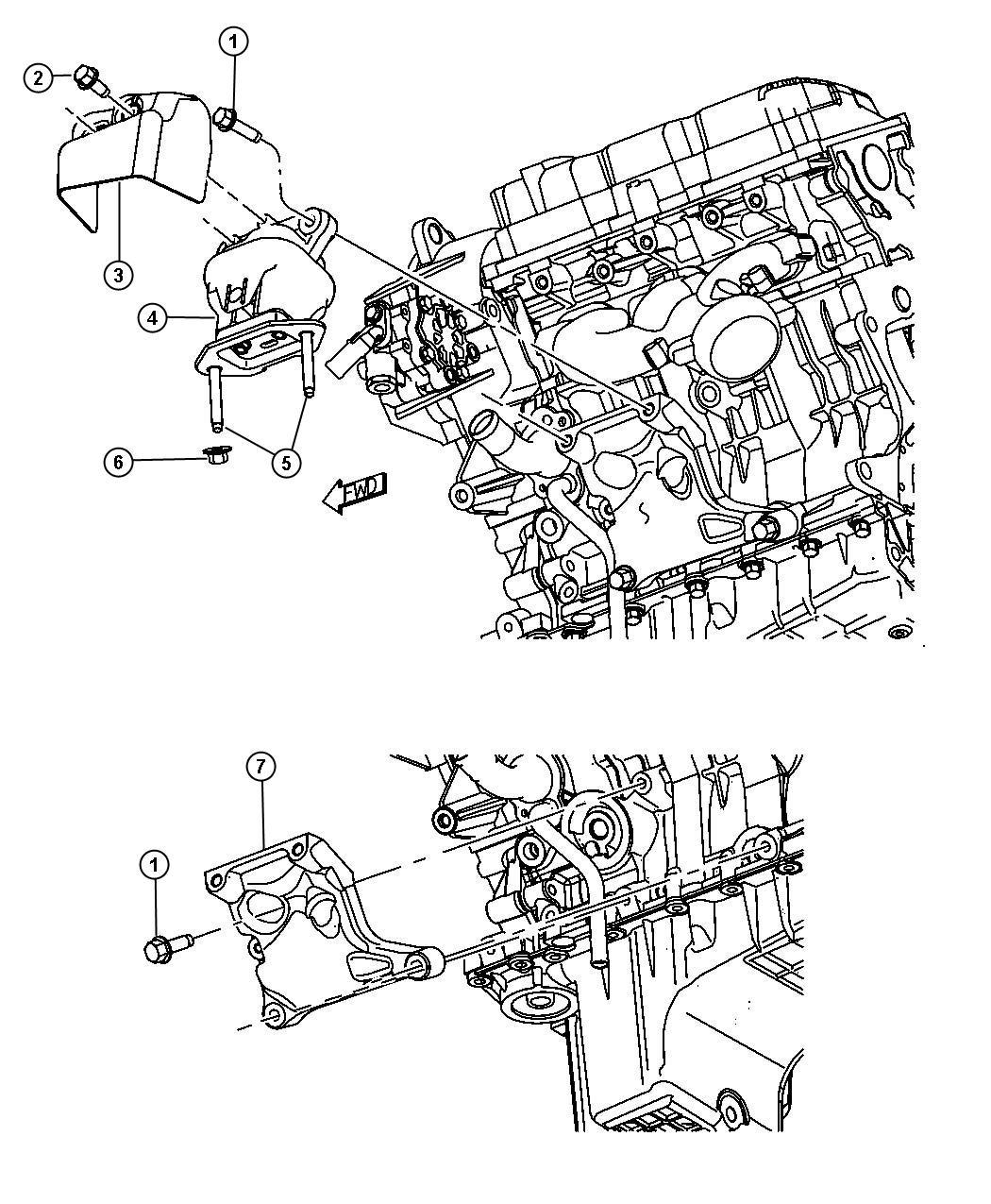Dodge Challenger Cushion Engine Support Left Left Side