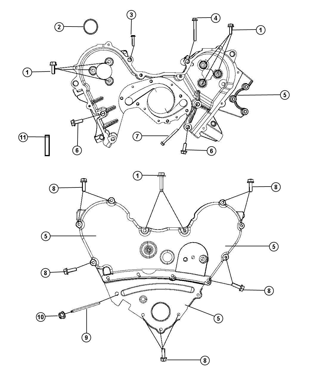 Dodge Challenger Cover Timing Belt Timing Case
