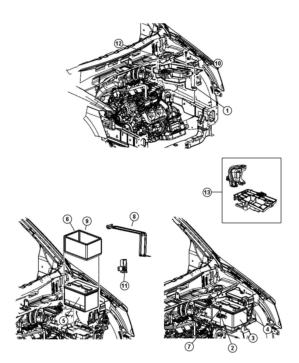 Chrysler Town Amp Country Bracket Retainer Battery