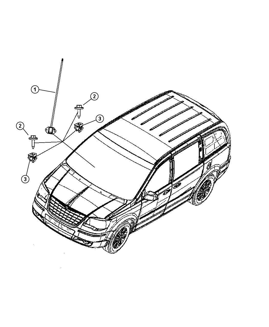 Dodge Challenger Antenna Global Positioning Rb6 Rer Rep Rer