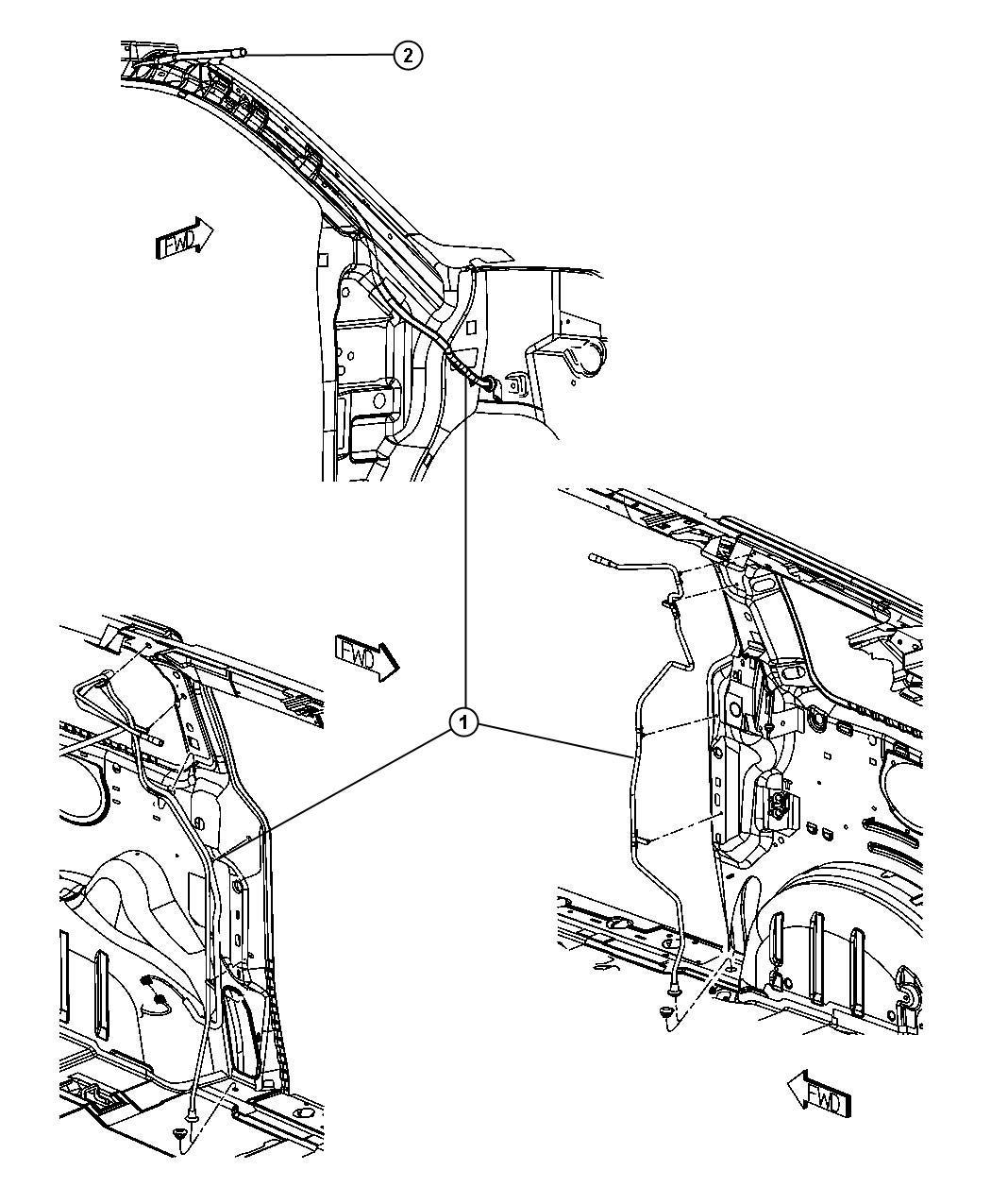 Dodge Grand Caravan Tube Sunroof Drain
