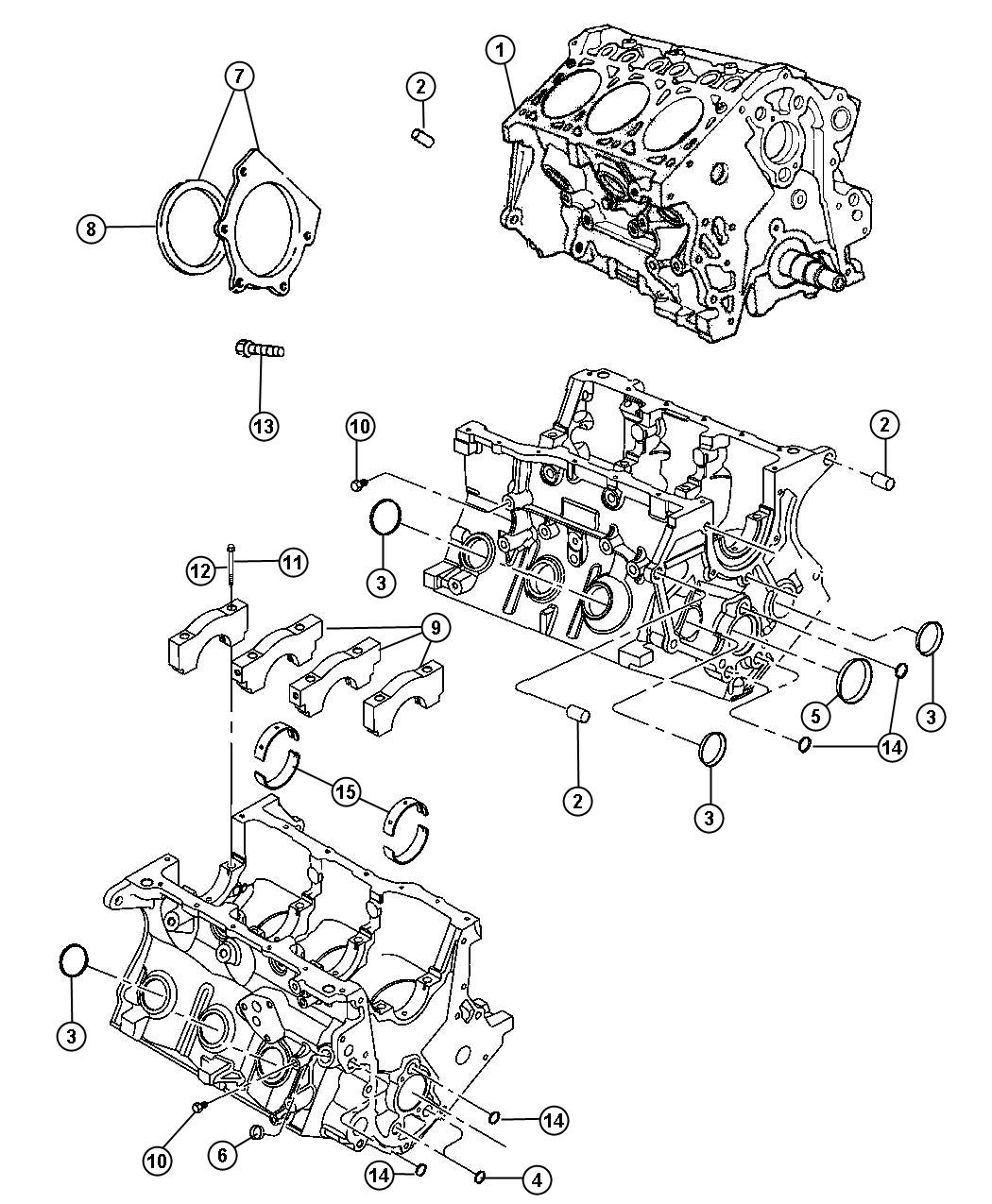 Chrysler Town Amp Country Engine Short Block Cylinder
