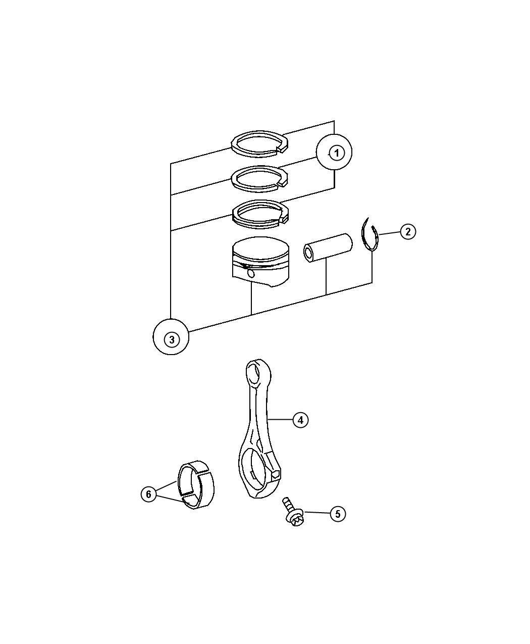 Jeep Grand Cherokee Bearing Connecting Rod Parts Kit