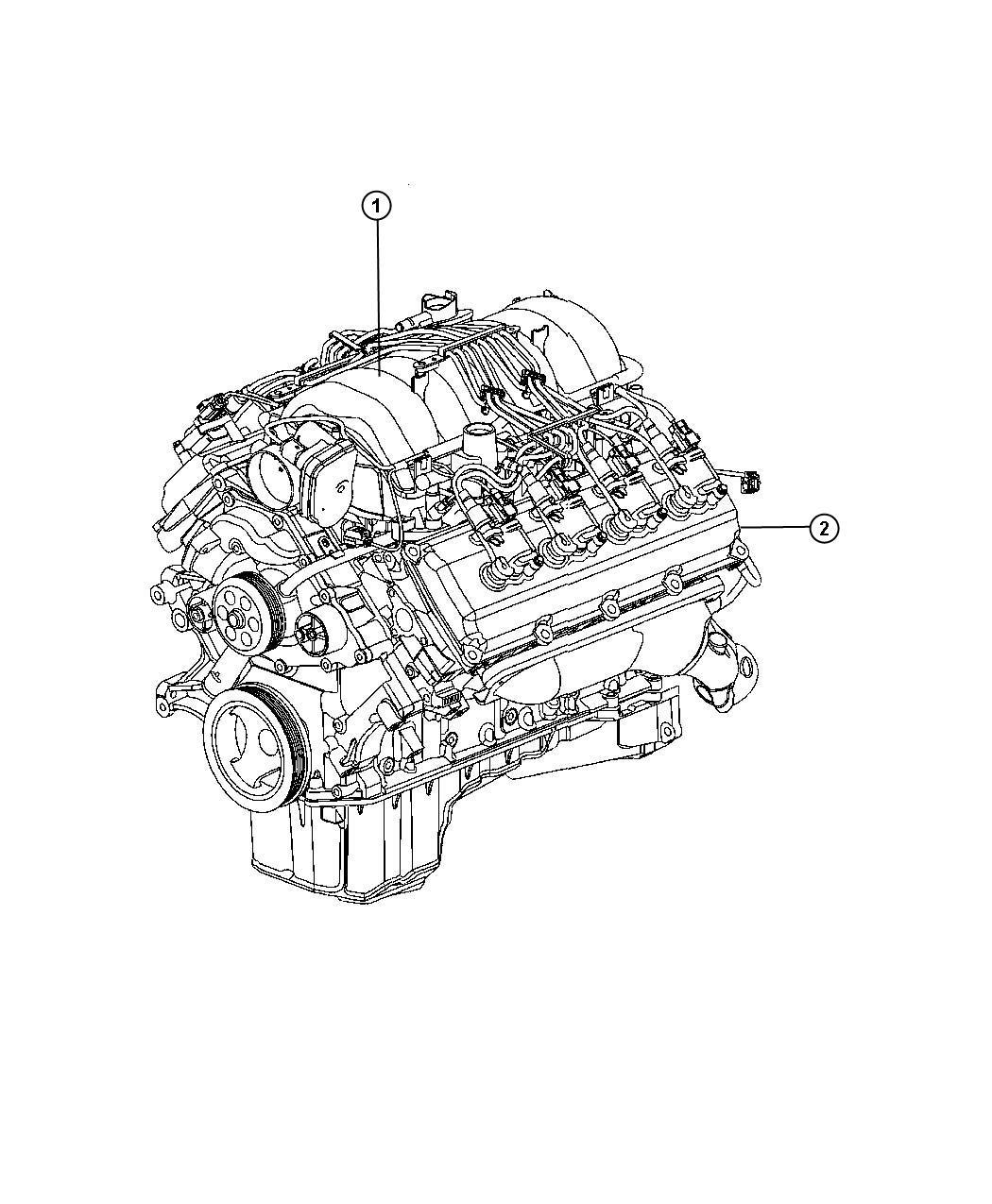 Dodge Durango Engine Long Block Remanufactured Manifold