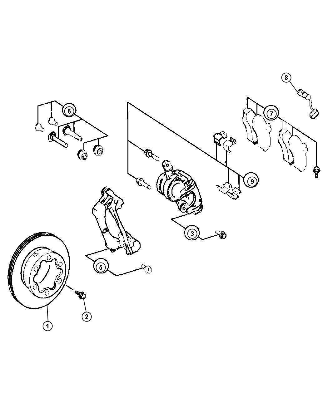 Dodge Sprinter Sensor Brake Wear Rear Brakes