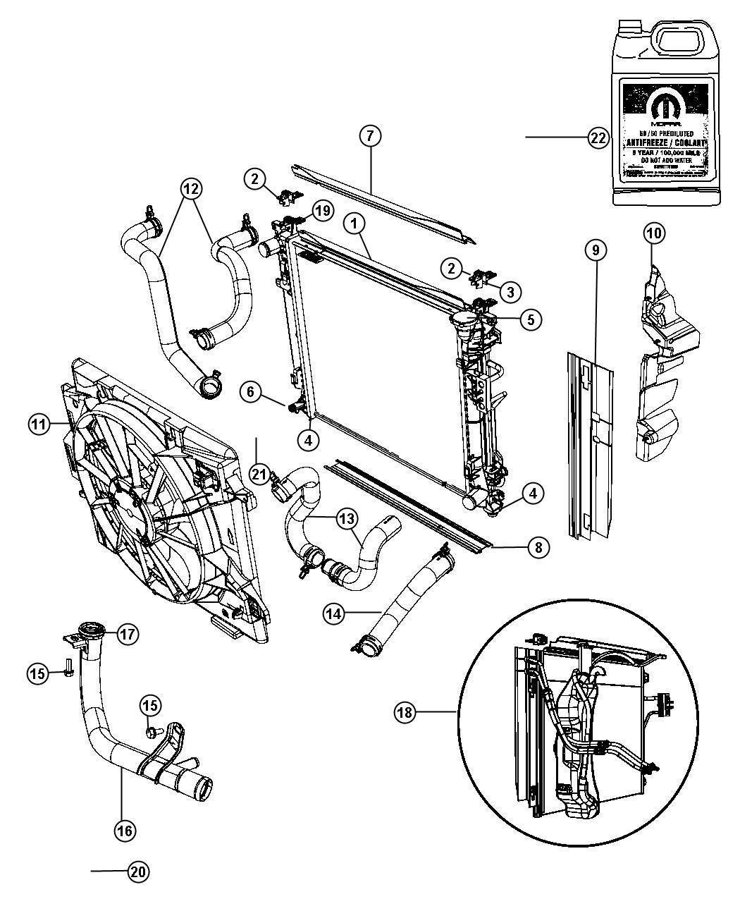 Chrysler Town Amp Country Isolator Radiator Lower Heavy