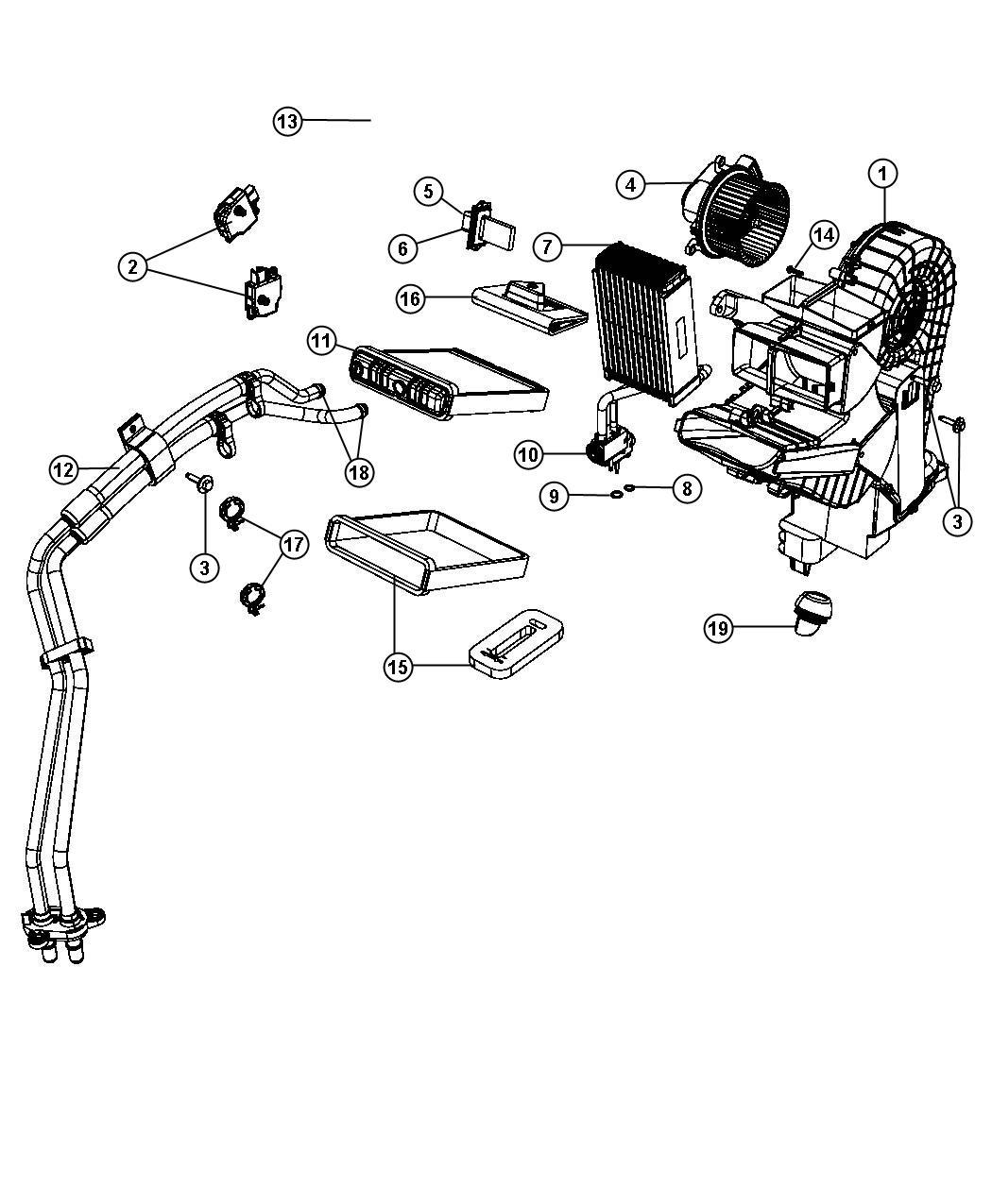 Dodge Grand Caravan Resistor Blower Motor Air