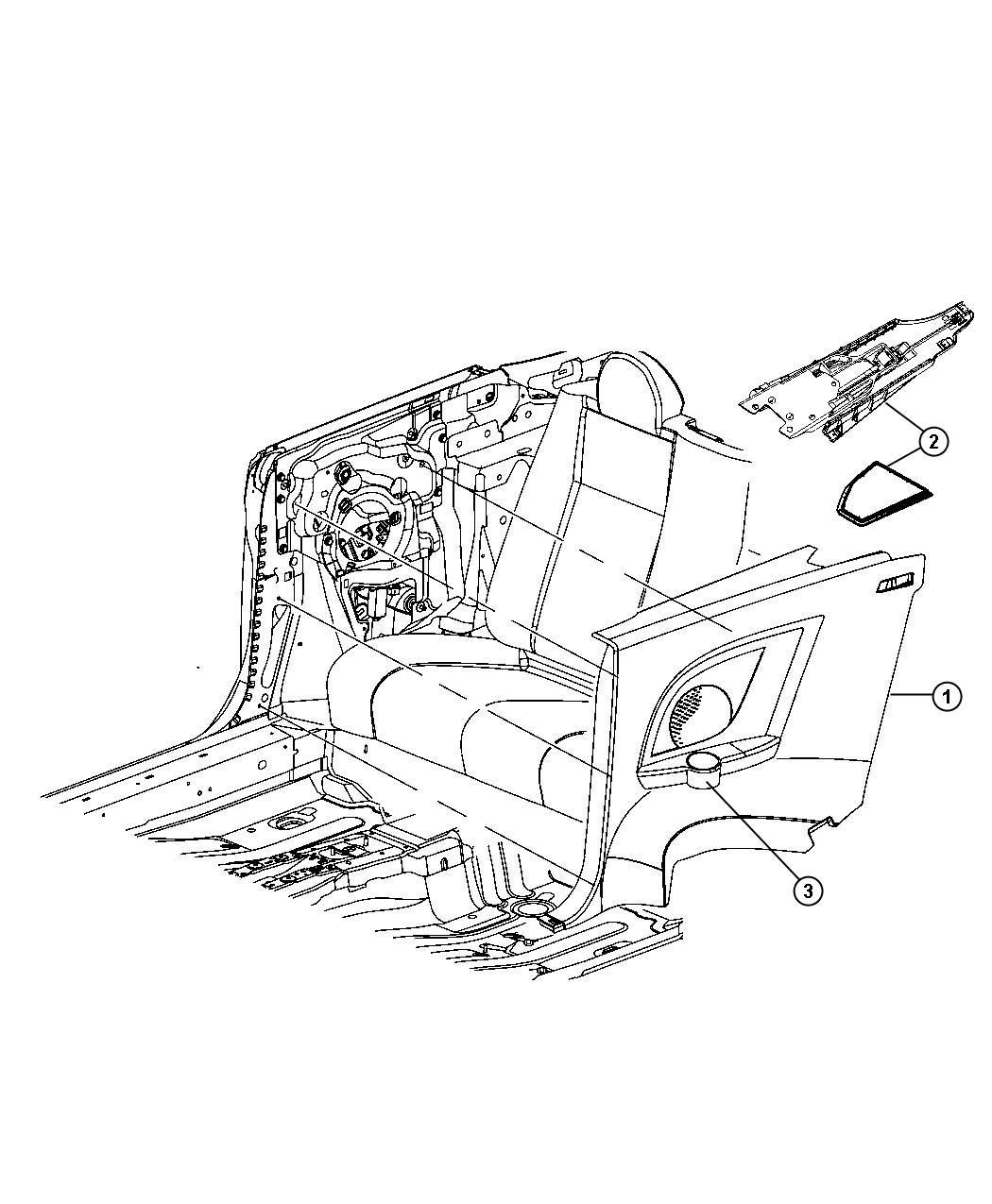 Chrysler Sebring Door Qtr Trim Access Otr Right J1
