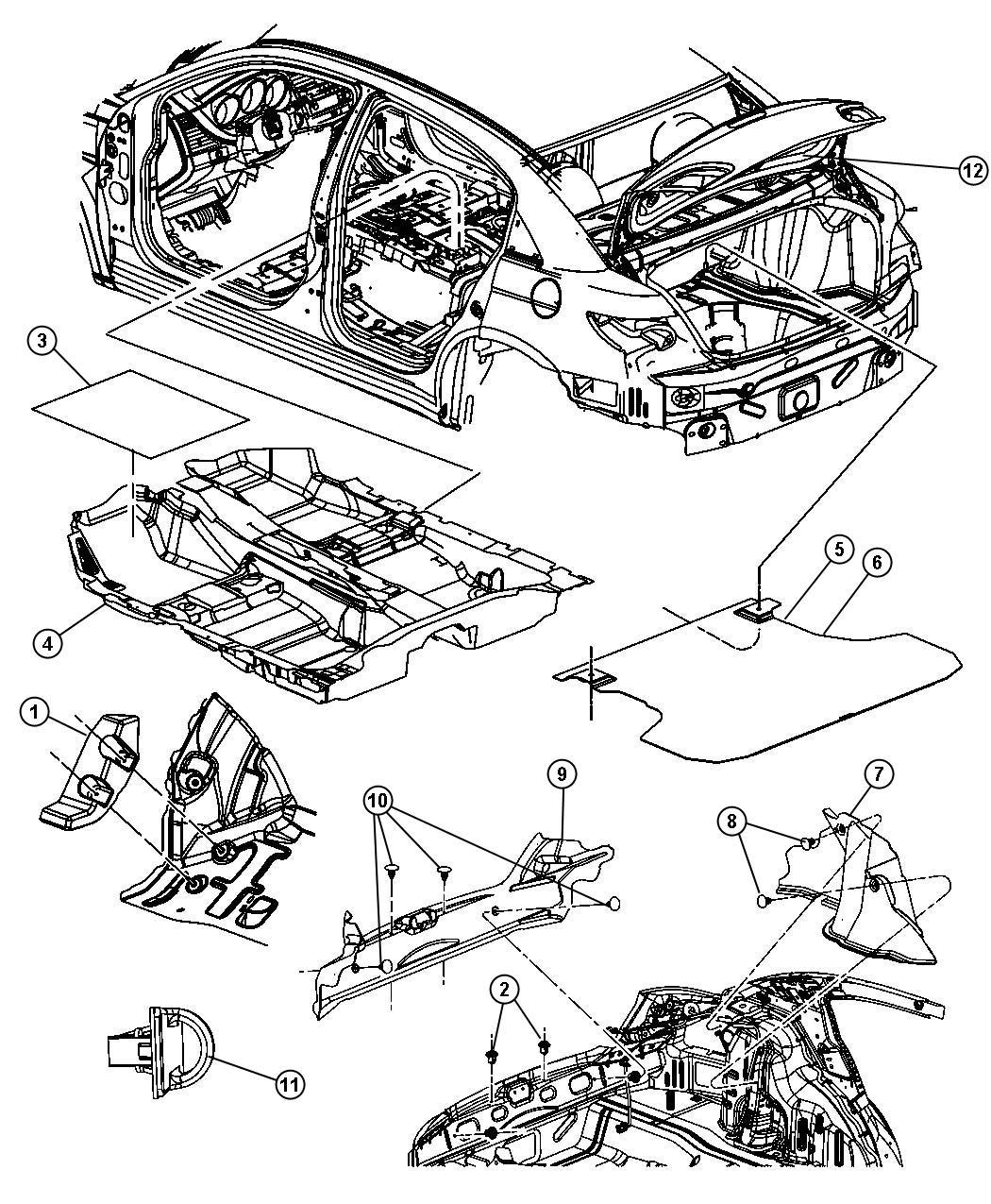 Chrysler Sebring Carpet Floor T1 2 0l I4 Dohcsel