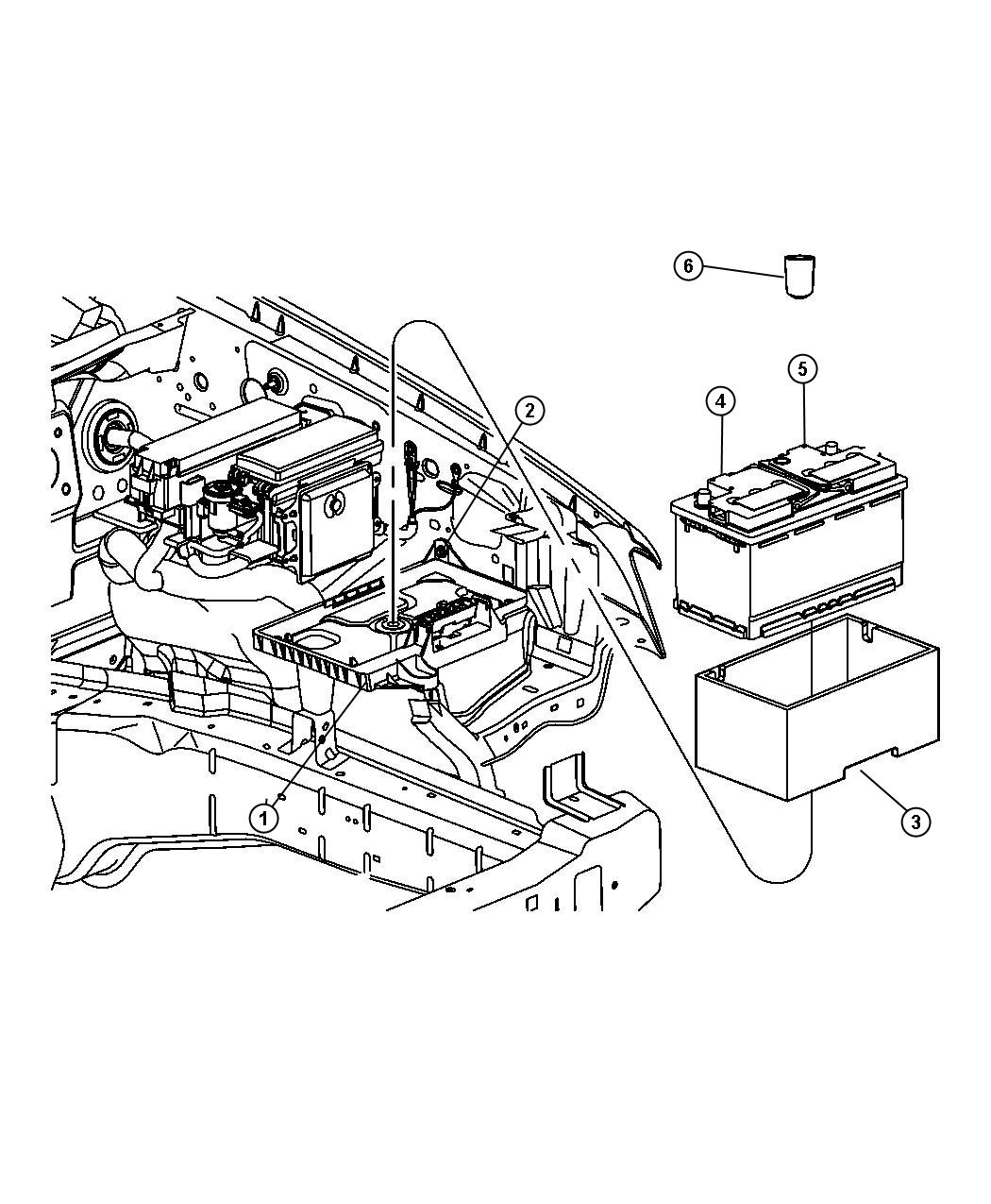 Dodge Challenger Support Battery Battery Tray