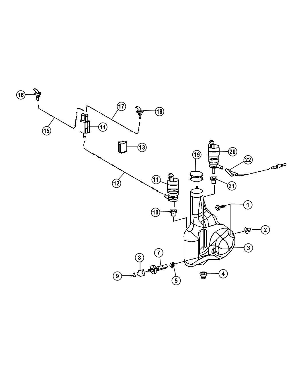 Dodge Sprinter Reservoir Washer System Wiper