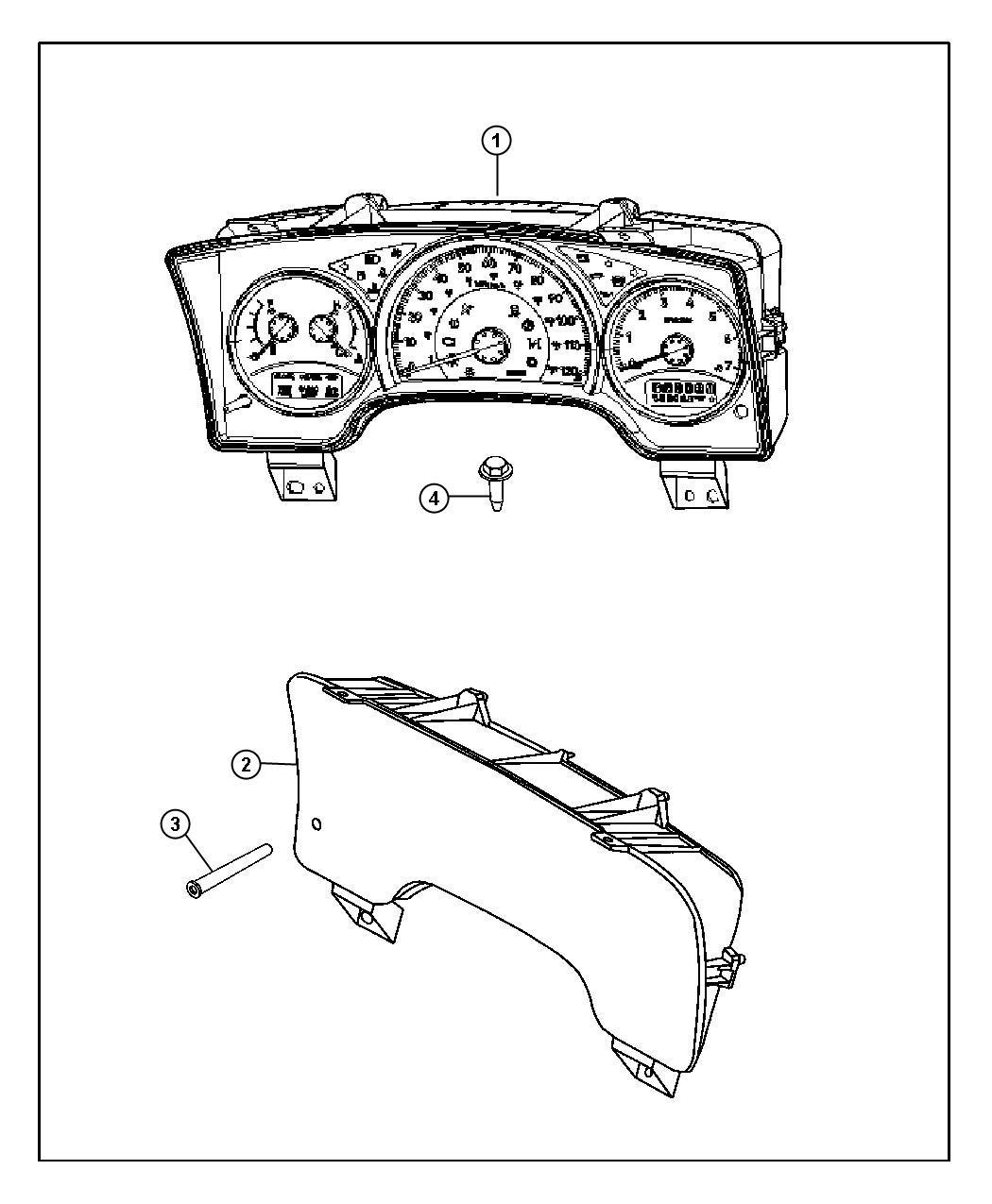 Dodge Dakota Cluster Instrument Panel 120 Mph Primary