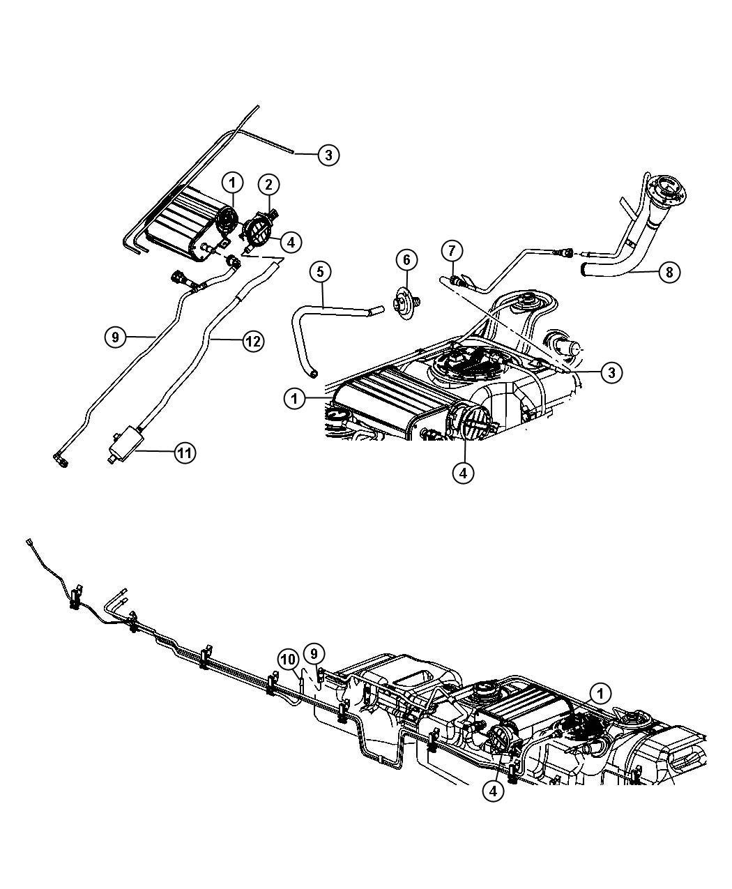Dodge Dakota Filter Leak Detection Pump