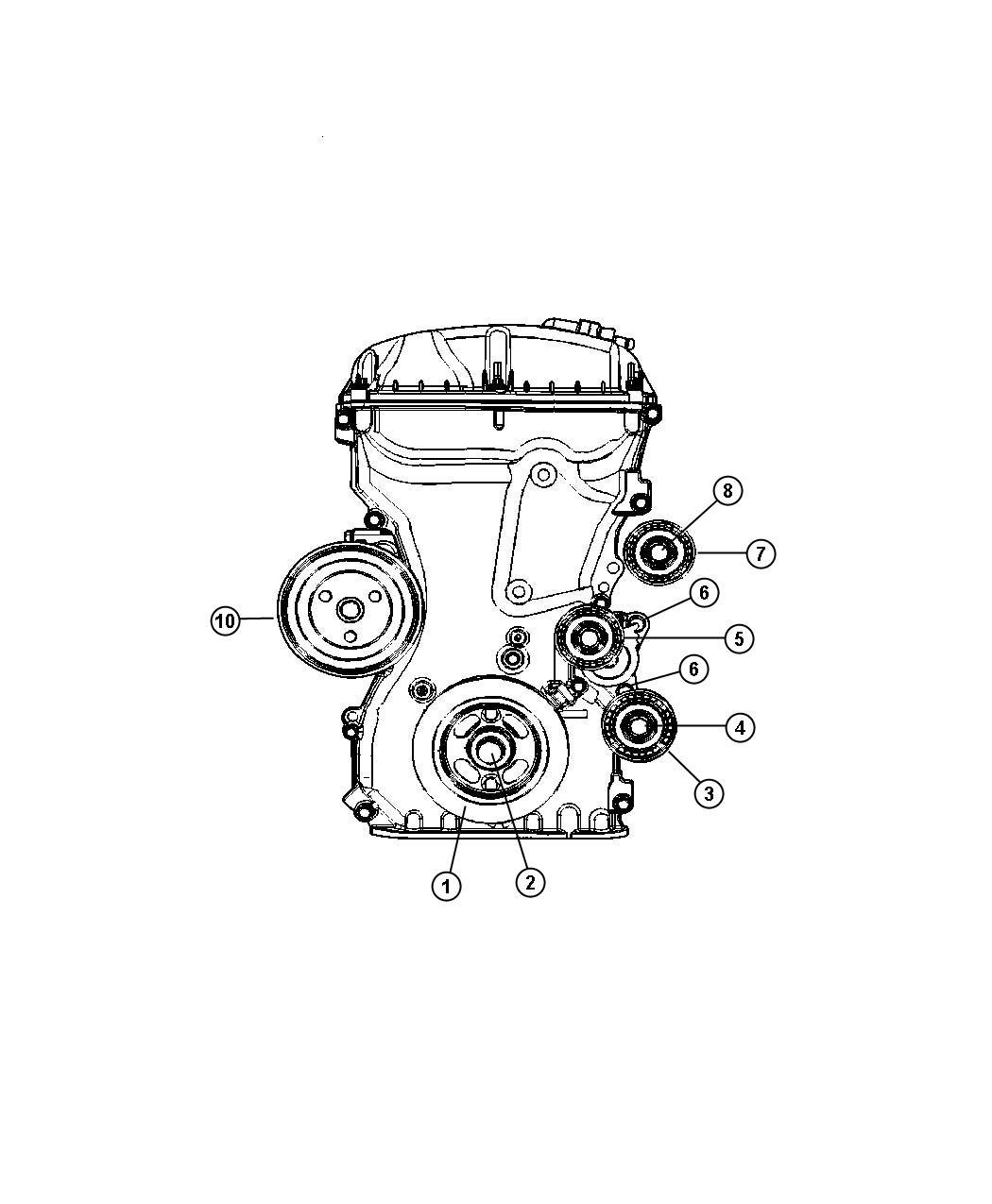 Dodge Journey Pulley Hub Kit A C Compressor Rear