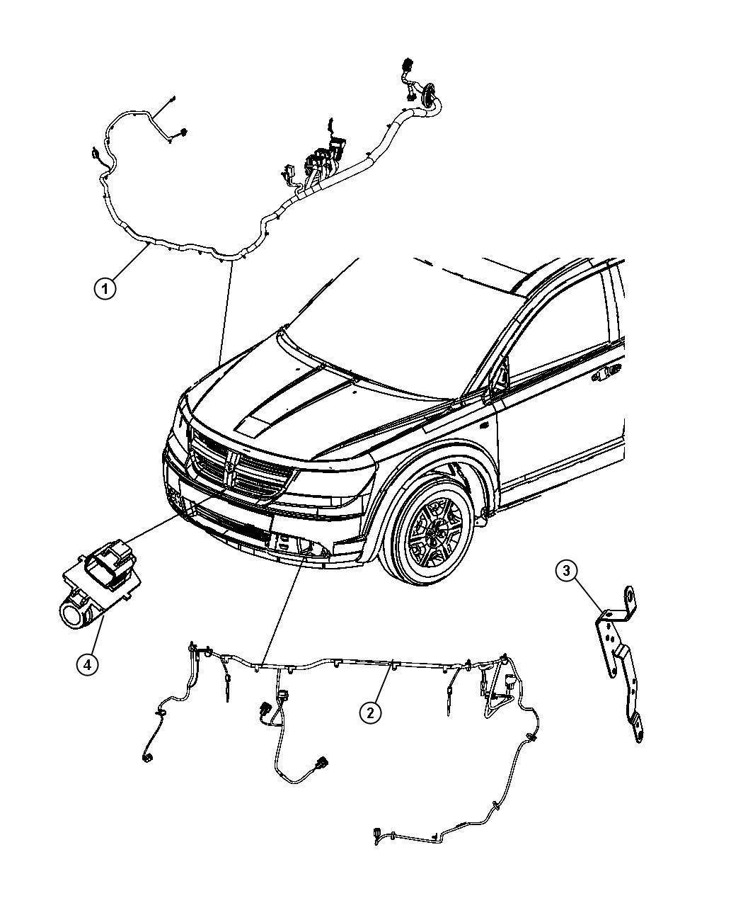 Dodge Journey Wiring Engine Compartment Headlamp Dash