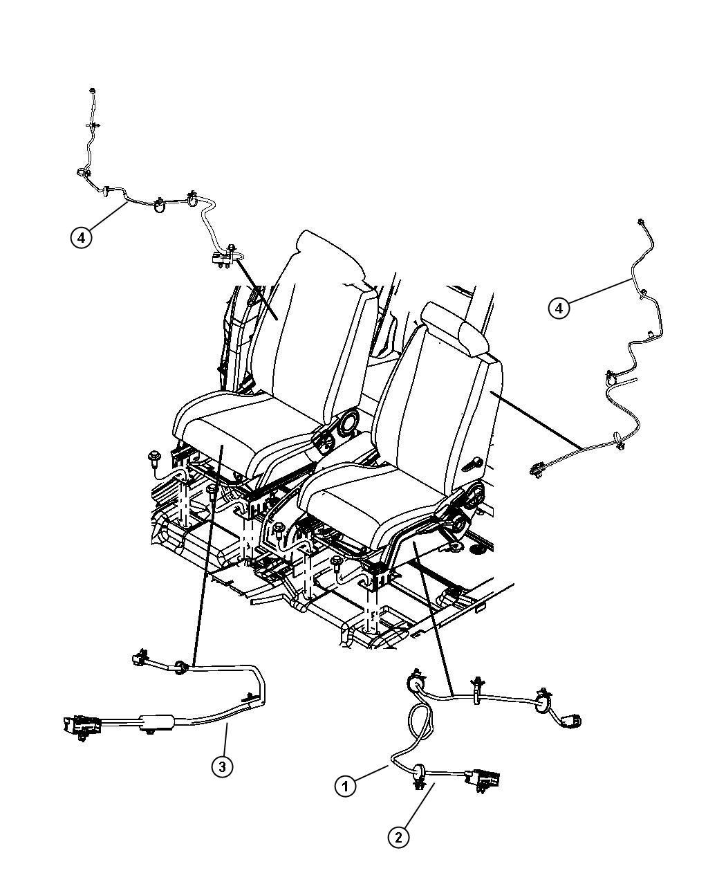 Dodge Journey Wiring Seat Trim Prem Cloth Low Back