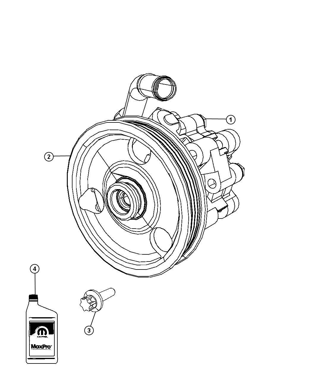 Dodge Journey Pump Power Steering Remanufactured Mopar