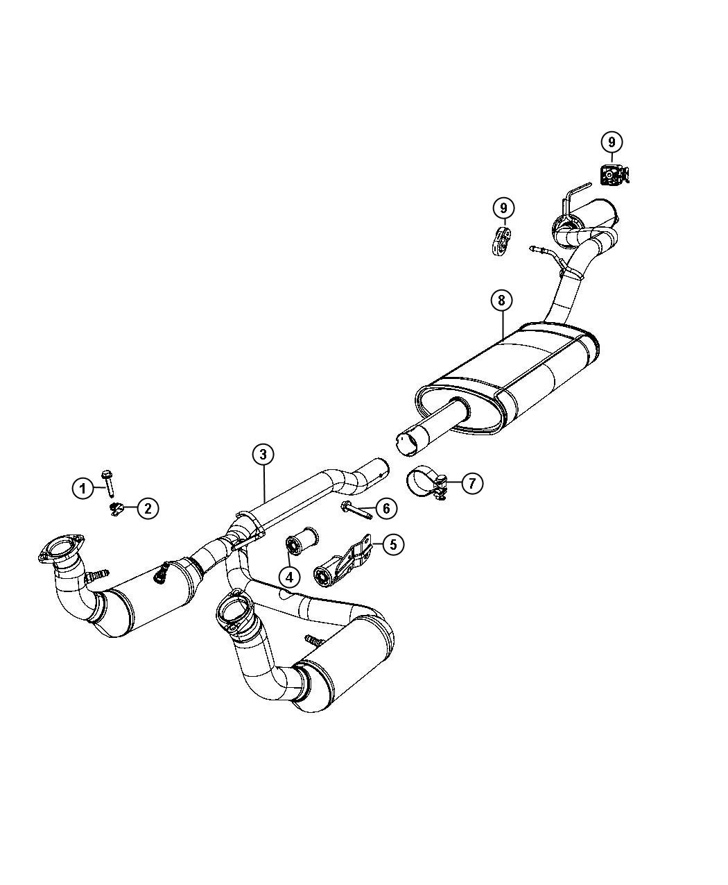 Dodge Nitro Converter Catalytic Exhaust System