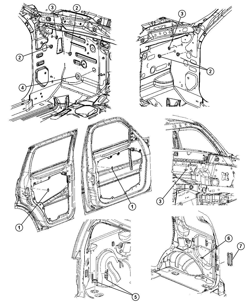 Jeep Grand Cherokee Plug Door Handle