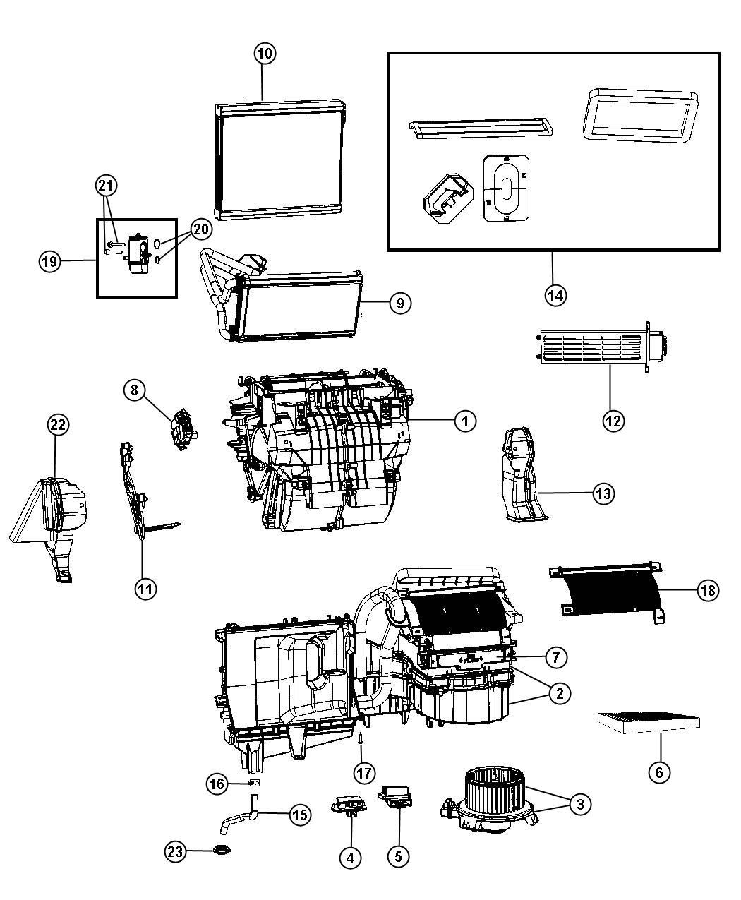 Dodge Journey Housing Blower Motor Instrument Module