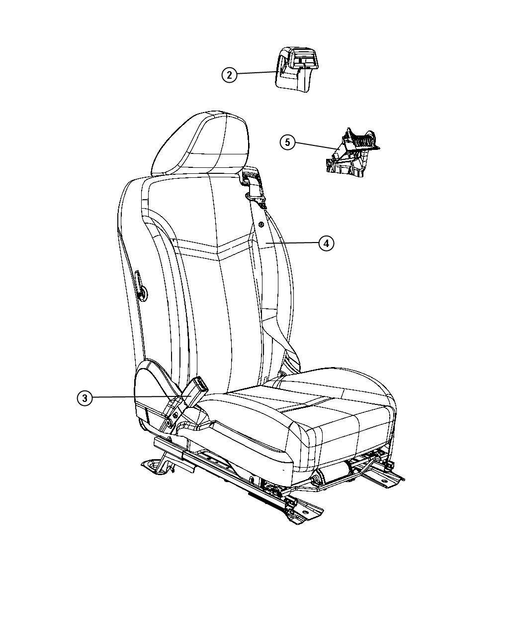 Chrysler Sebring Spacer Trim Premium Cloth Bucket Seats