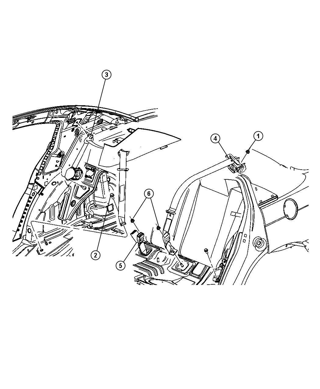 Chrysler Sebring Seat Belt Retractor Right Dv E Marked Seat Belts Trim All Trim