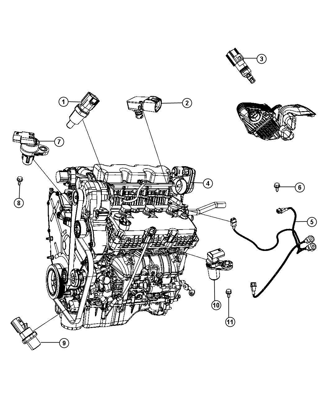 Chrysler Sebring Sensor Camshaft Electronic Gas