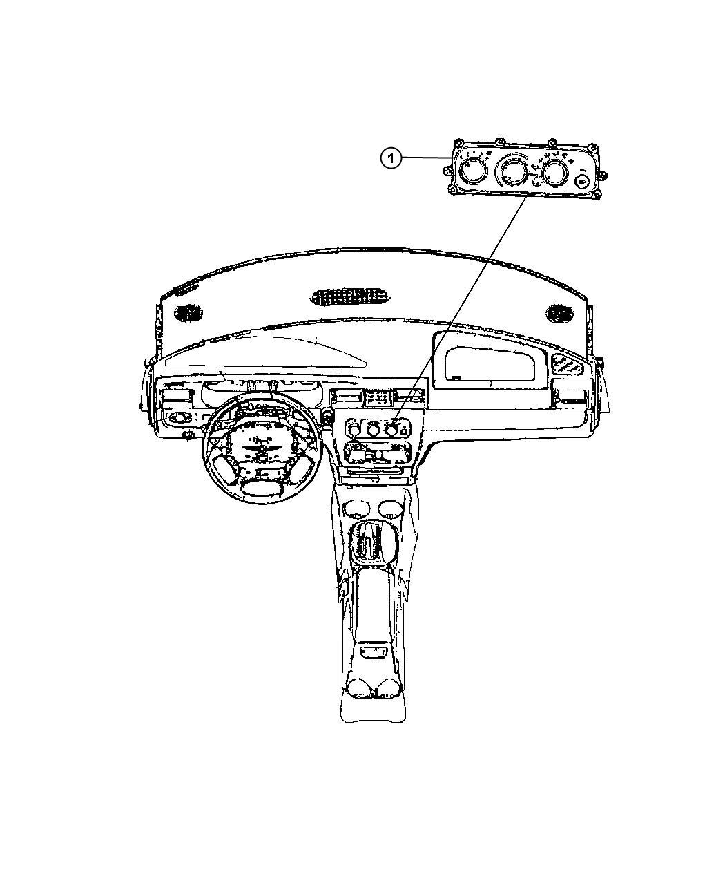 Dodge Avenger Control Used For A C And Heater Trim