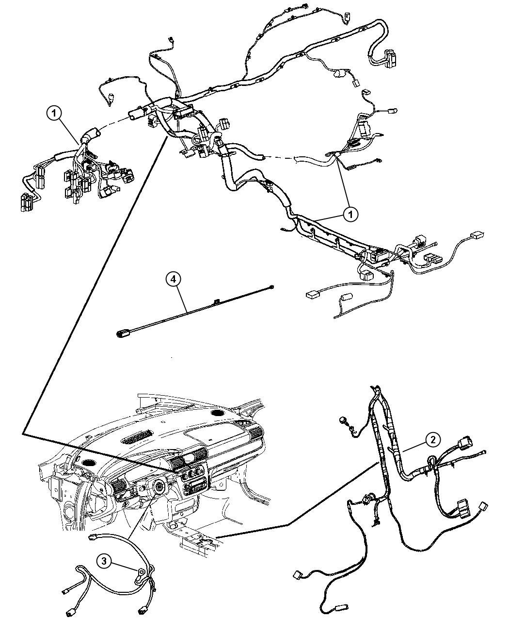 Chrysler Sebring Wiring Instrument Panel