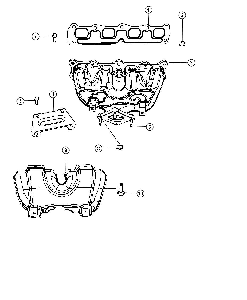 Dodge Avenger Shield Exhaust Manifold 4 Speed Automatic