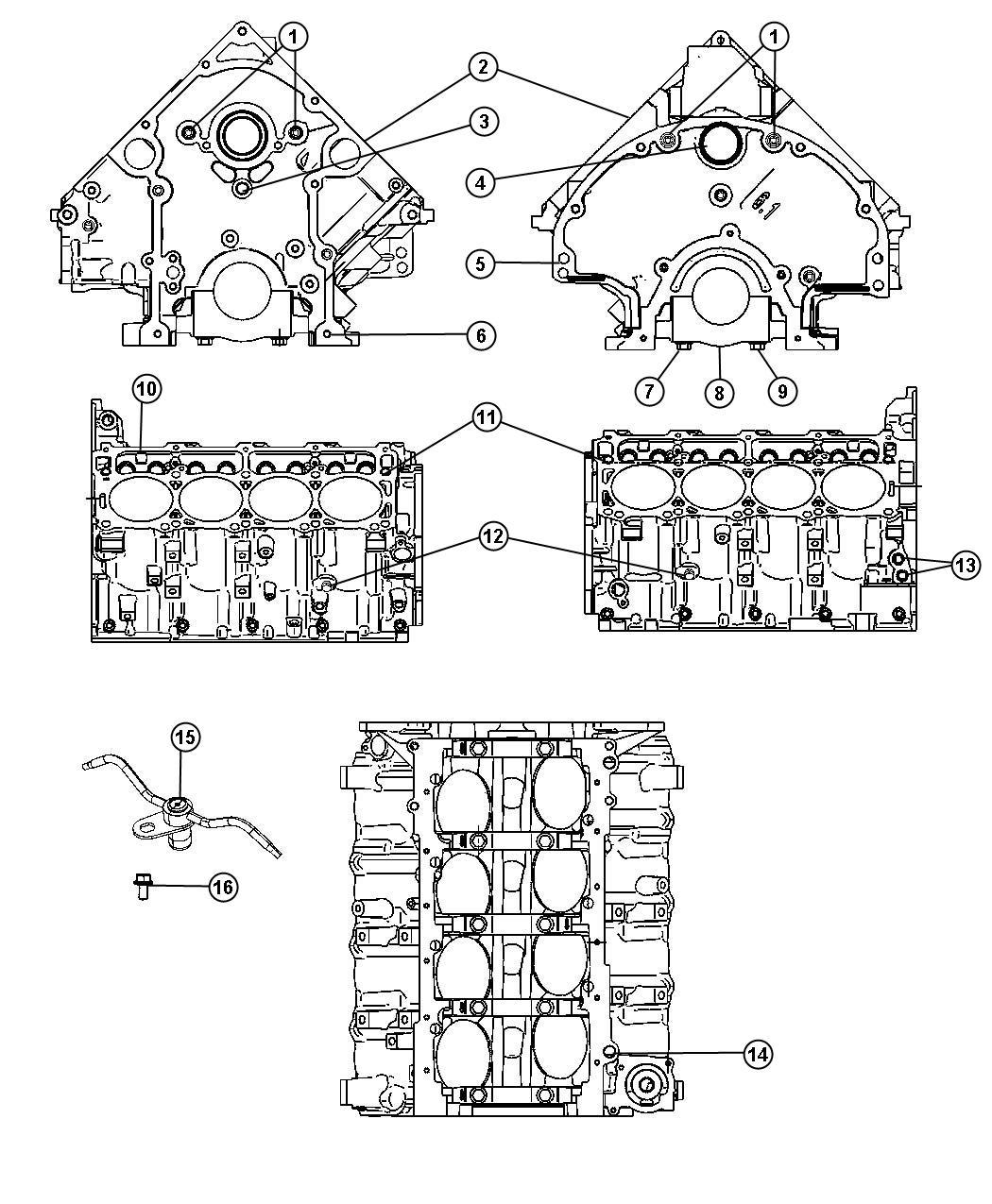 Chrysler 300 Jet Piston Oil Cooler Block Cylinder