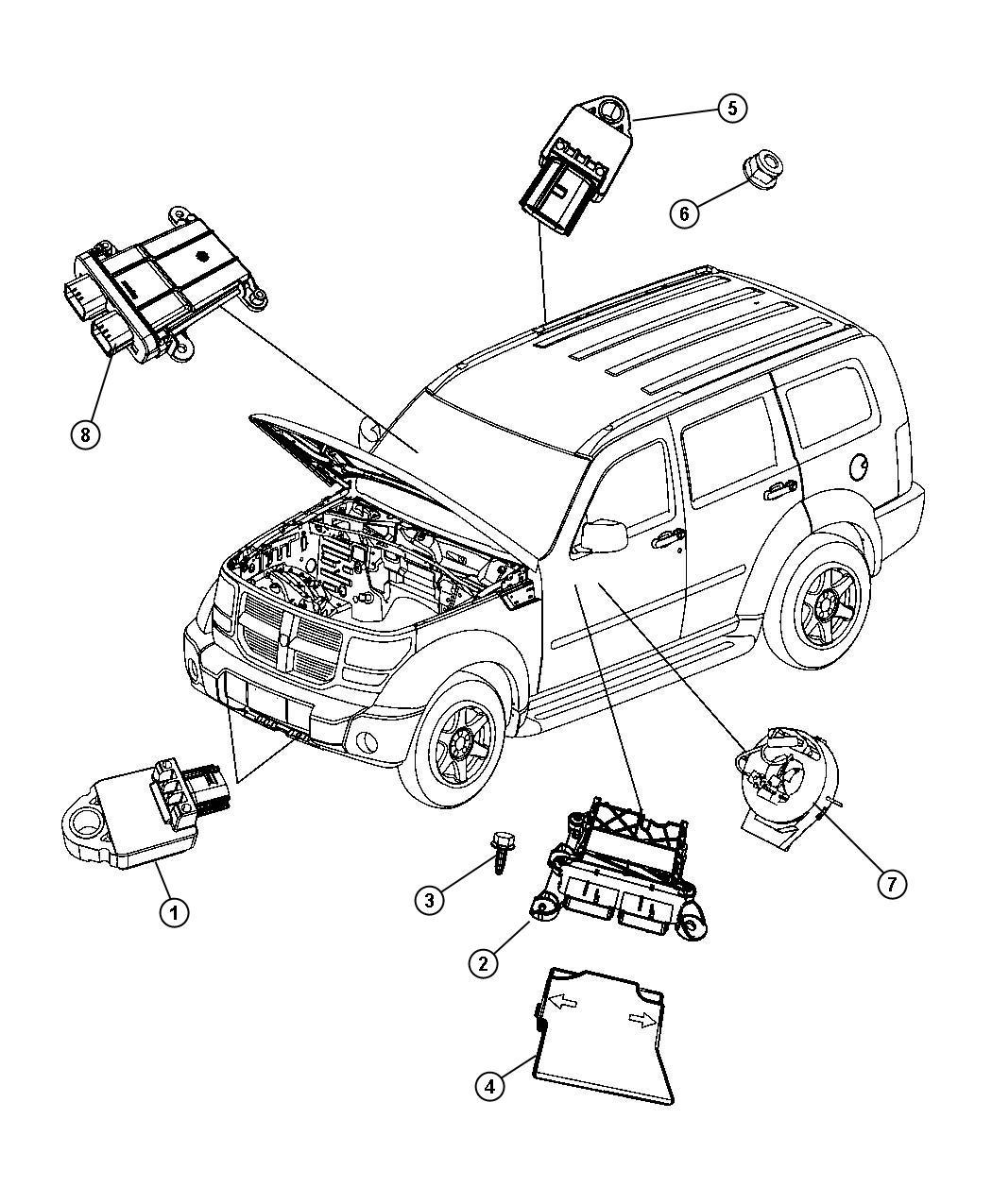 Jeep Liberty Module Occupant Restraint Air